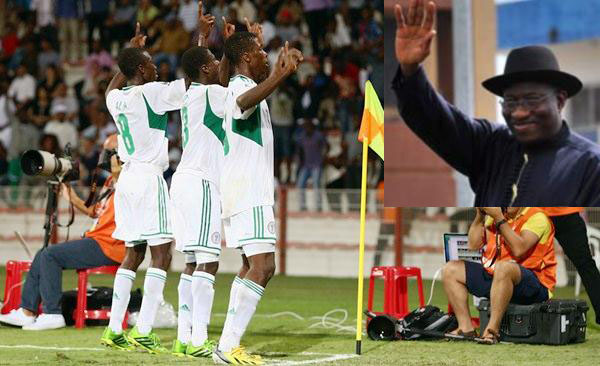 Jonathan Sends Delegation Led By Mark To Cheer Eaglets To Victory