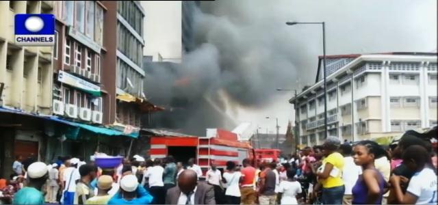 Great Nigeria Building On Fire In Lagos