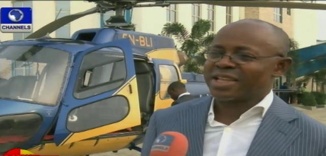 OAS Helicopter Boss Visits Channels TV In Style