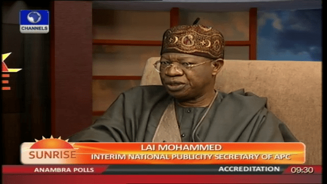 nPDP/APC Alliance: No Going Back For New Members – Lai Mohammed