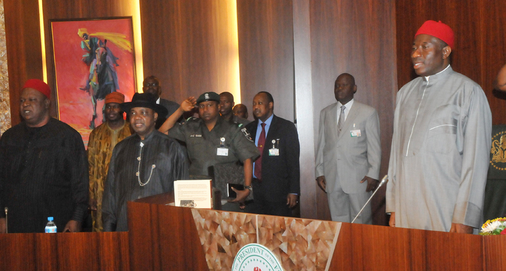 Fighting Insecurity: Jonathan Meets With Governors, Security Chiefs