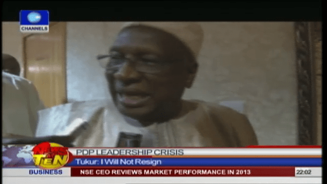 I Have Not Resigned, Tukur Insists