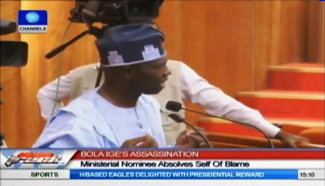 Senate Drills Ministerial Nominee On Bola Ige's Death