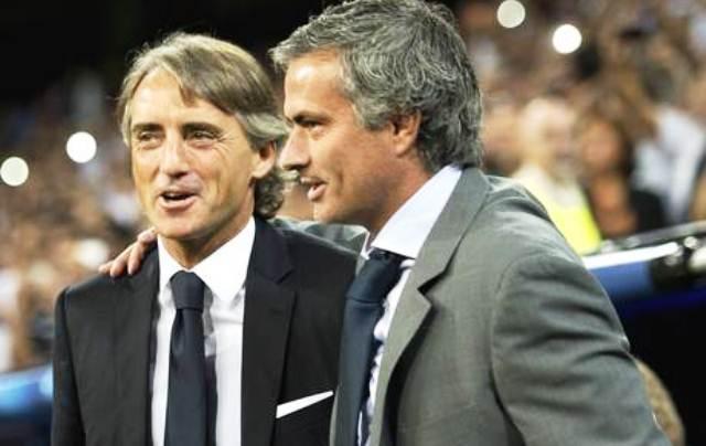 UCL: Mourinho And Mancini React To 1-1 Draw