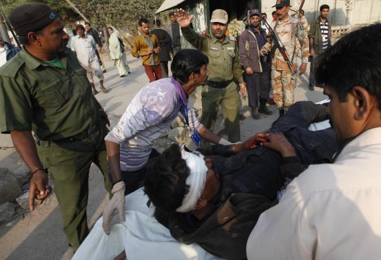 Blast Aimed At Pakistani Police Bus Kills 11, Wounds 33