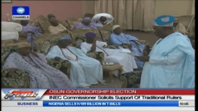INEC Commissioner Solicits Support of Traditional Rulers