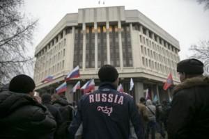 Pro-russia protest Crimea