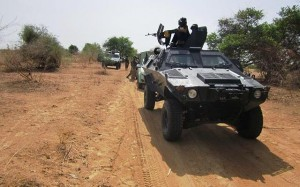 Troops of 7 Division Nigerian Army advancing for the operation