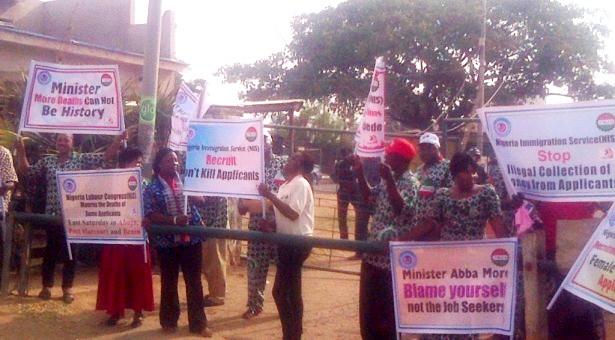 NLC Protest Death Of Immigration Job-Seeking Applicants In Kaduna
