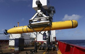 Handout of the Phoenix International Autonomous Underwater Vehicle Artemis participating in the search for missing Malaysia Airlines Flight MH370
