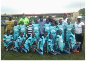 Governor Uduaghan and Boys from Nana School Delta