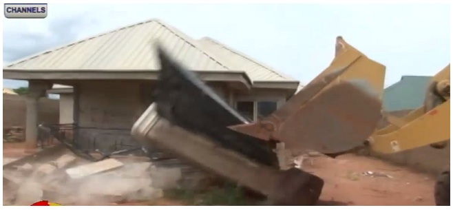 Three Buildings Owned By Kidnappers Demolished In Anambra