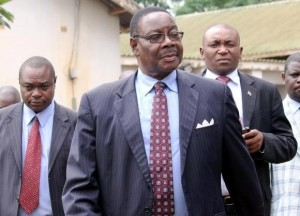 Peter Mutharika, former Foreign Minister and brother to the late President of Malawi, Bingu wa Mutharika, leaves the Malawi court after he was granted bail in Lilongwe