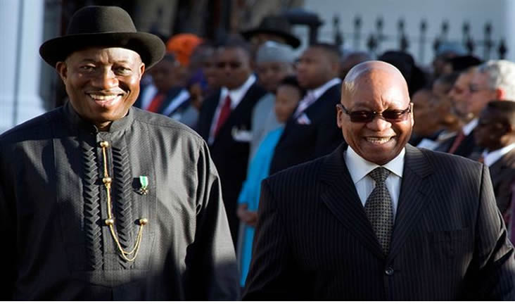 Jonathan Returns From South Africa After Zuma's Inauguration