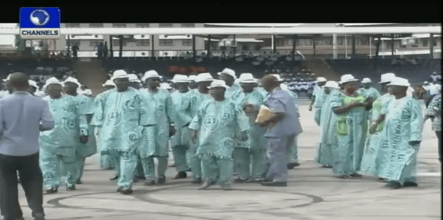 Workers Gather At Eagles Square Abuja For Rally