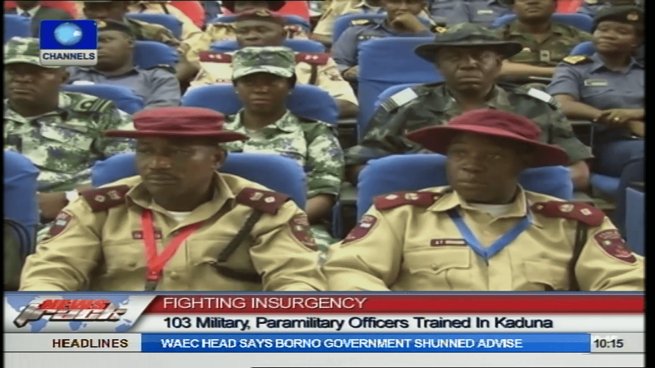 103 Military, Paramilitary Trained On Counter Insurgency Operations