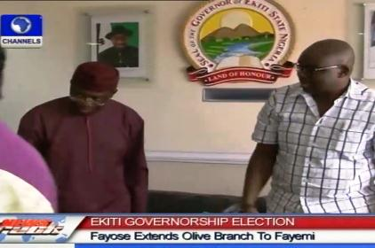 Ekiti Election: Fayose Visits Fayemi, Extends Olive Branch