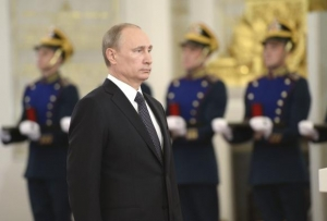 Russian President Putin attends a state awards ceremony in the Kremlin