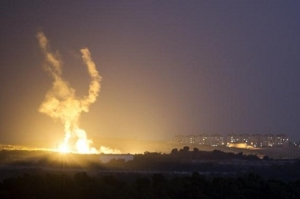Israeli rocket is fired into the northern Gaza Strip