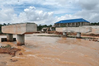 Ajimobi Inspects Apete Bridge Project, Demands Faster Process