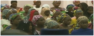 Chibok-Girls-at-meeting-with-president-jonathan