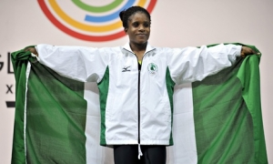 Nigeria's gold medallist Chika Amalaha