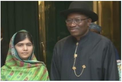 Jonathan Meets Malala, Plans To Meet Chibok Parents