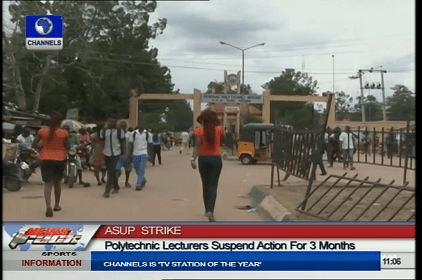 Polytechnic Lecturers Resume After 10 Month Strike