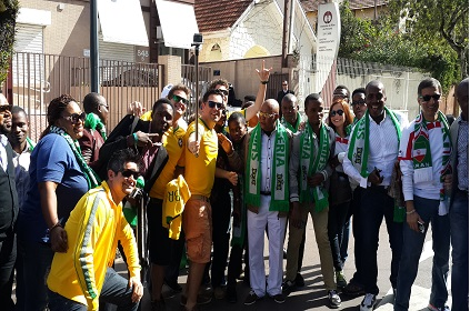 Star Football Treats Nigerian Fans In Brazil