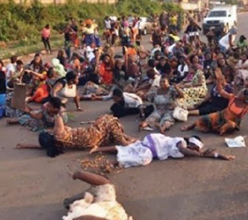 Nigerian Soldiers' Wives Protest Husbands' Deployment