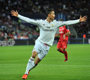 Ronaldo's Brace Helps Real Madrid To Win UEFA Super Cup