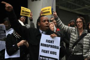 Uganda gay protest