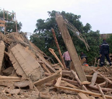 3 Dead, 5 Rescued in Benin Church Building Collapse