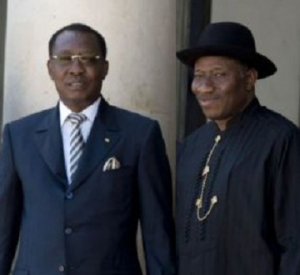 Goodluck Jonathan and Idriss Deby.