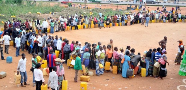 Kerosene queue.