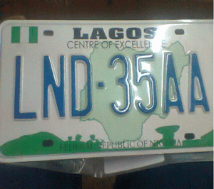 New plate number