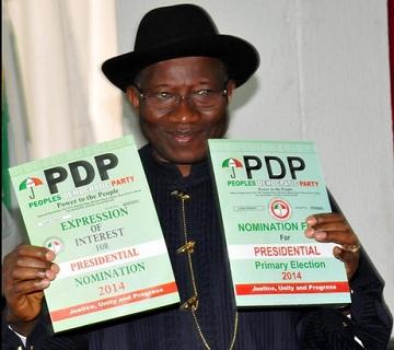 Jonathan Appears Before PDP Presidential Screening Committee