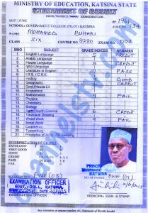 Buhari certificate 2