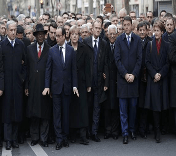 Hollande, World Leaders March Against Extremism