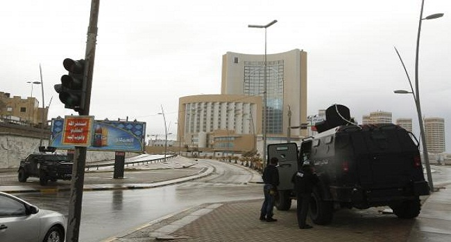 Security forces surround Corinthia hotel after a car bomb in Tripoli