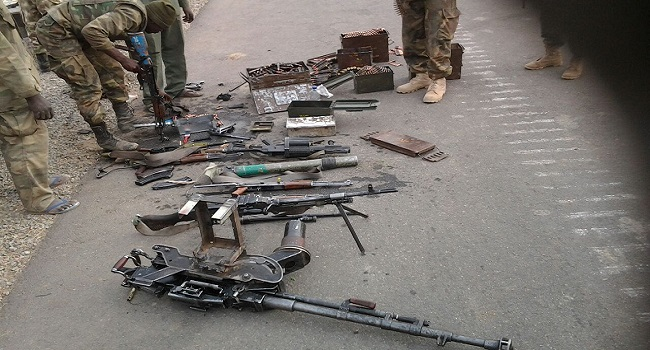 Troops Recover Large Cache Of Boko Haram's Arms At Gursum