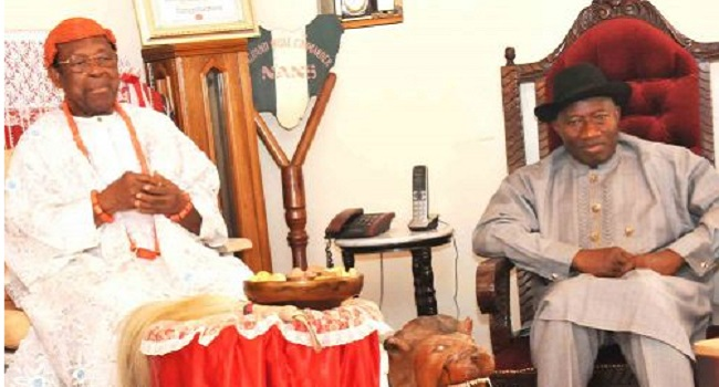 Asagba Of Asaba Endorses Jonathan For Second Term, Requests For Infrastructure