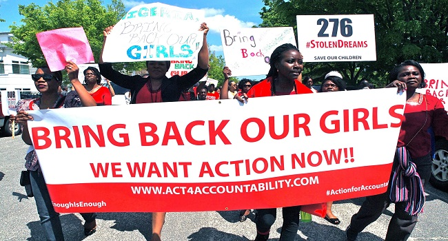 'Bring Back Our Girls' Conveners Mark One Year Of Girls' Abduction
