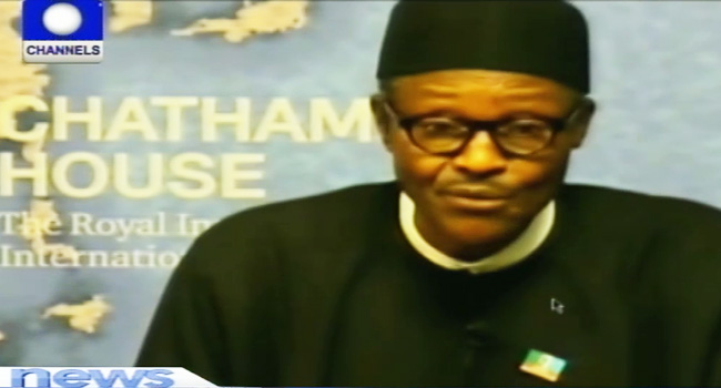 Chatham House Lecture: Buhari Promises To Tackle Terrorism
