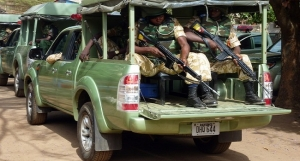 NIGERIA-ELECTIONS security forces show of force