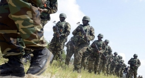 Soldier battling Boko Haram in Sambisa Forest