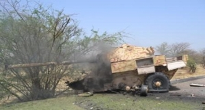 Boko Haram terrorists fighting vehicles destroyed by troops