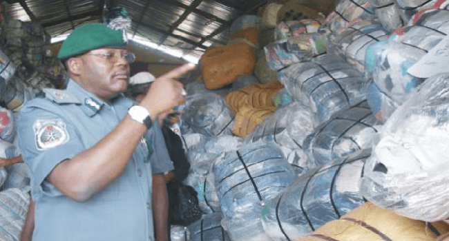 Nigerian Customs Impounds Truck Carrying Imported Frozen Foods