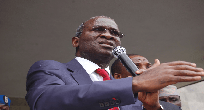 Fashola Says Water Challenges Will Be Reduced In Lagos State