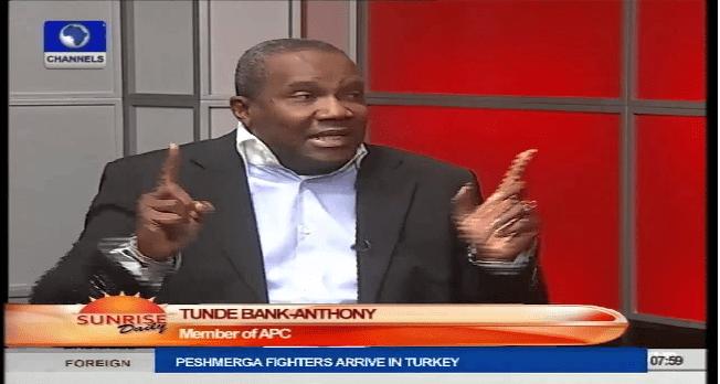 APC, Way Forward For Nigeria – Tunde Bank-Anthony